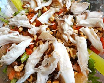 Salade de raie, roquette et pamplemousse, vinaigre de framboise