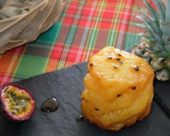 Ananas rôti à la vanille et fruits de la passion
