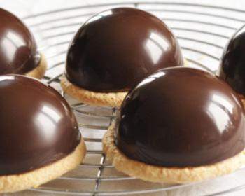 Demie-sphère chocolat noir