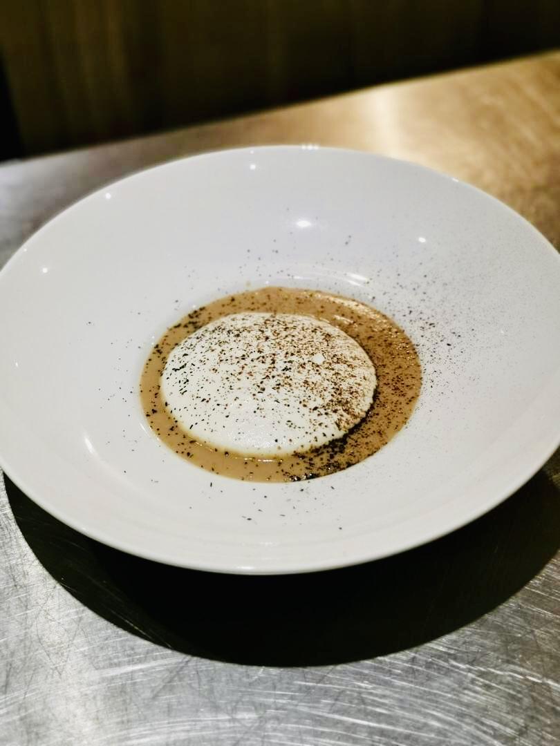 Cappuccino châtaignes – topinambours et chantilly à la truffe