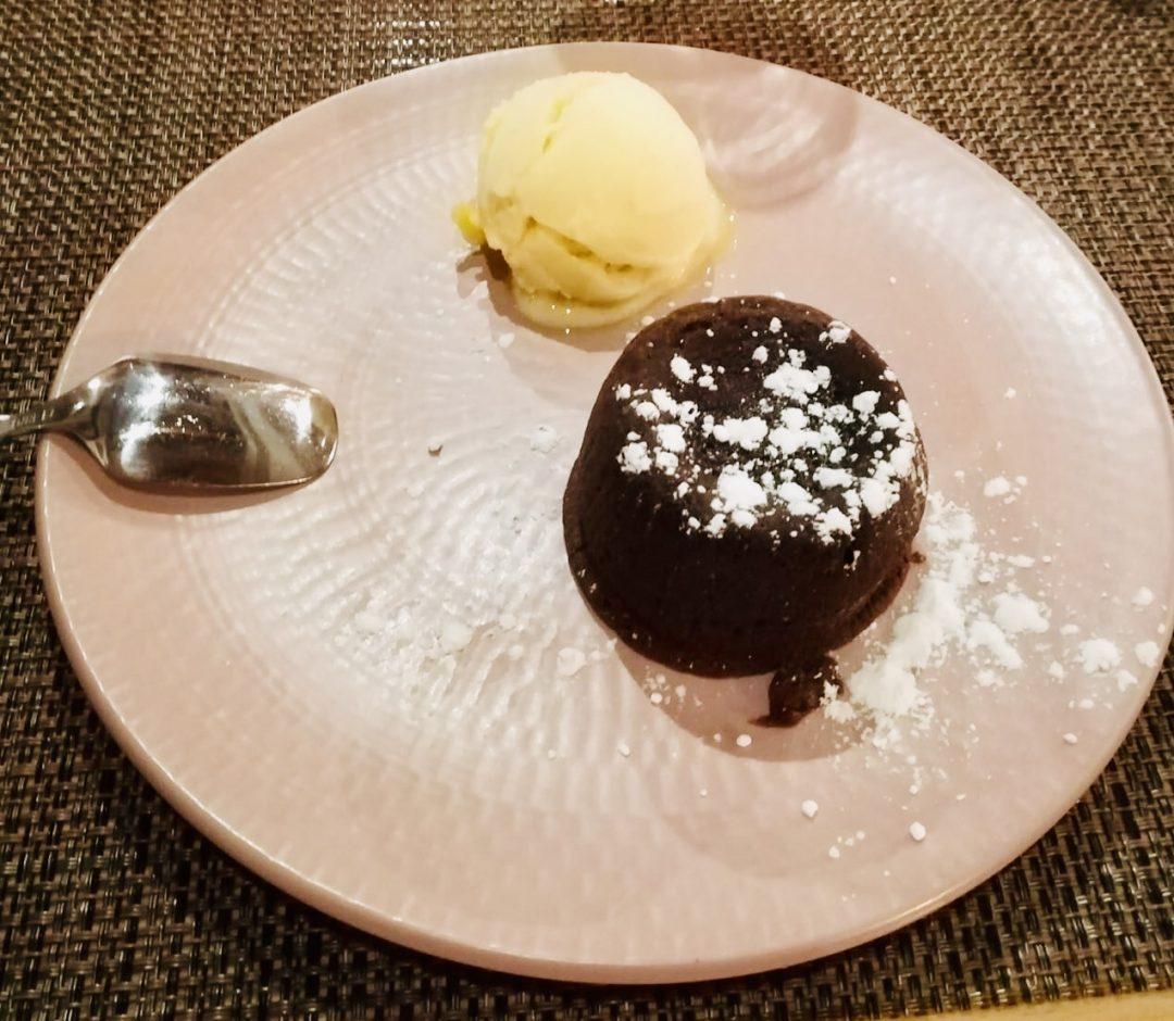 Fondant au chocolat coeur coulant à la mangue
