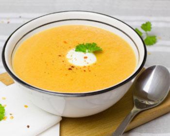 Soupe de carottes en conserve