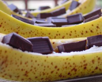 Banane – choco au barbecue