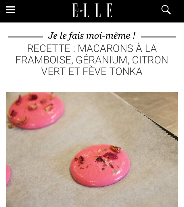 "Tuto macarons pour le magazine ""Elle"" 📇"