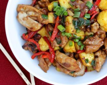 Wok aux deux poulets et poivre Siltimur