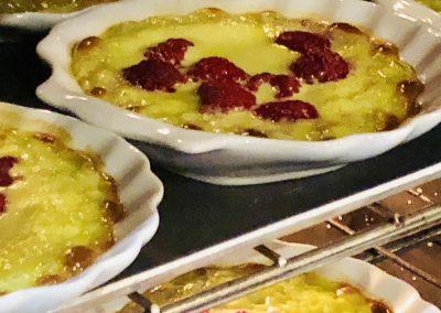 Sabayon pistache et framboise