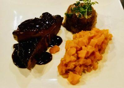 Magret de canard cuisson basse température et sauce porto – chocolat