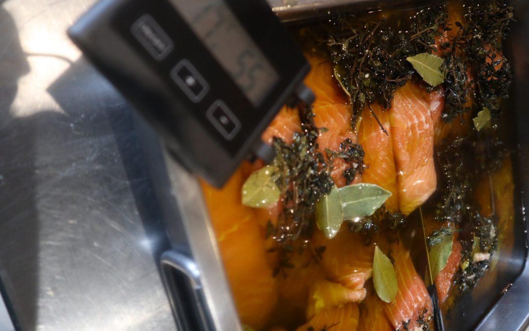 Saumon confit basse température